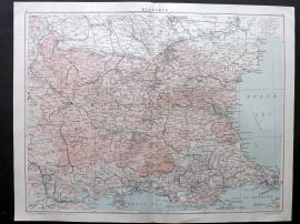 Gross 1920 Large Map. Bulgaria